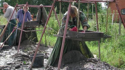 Vattensållning i Uppåkra Foto: Lunds Historiska Museum