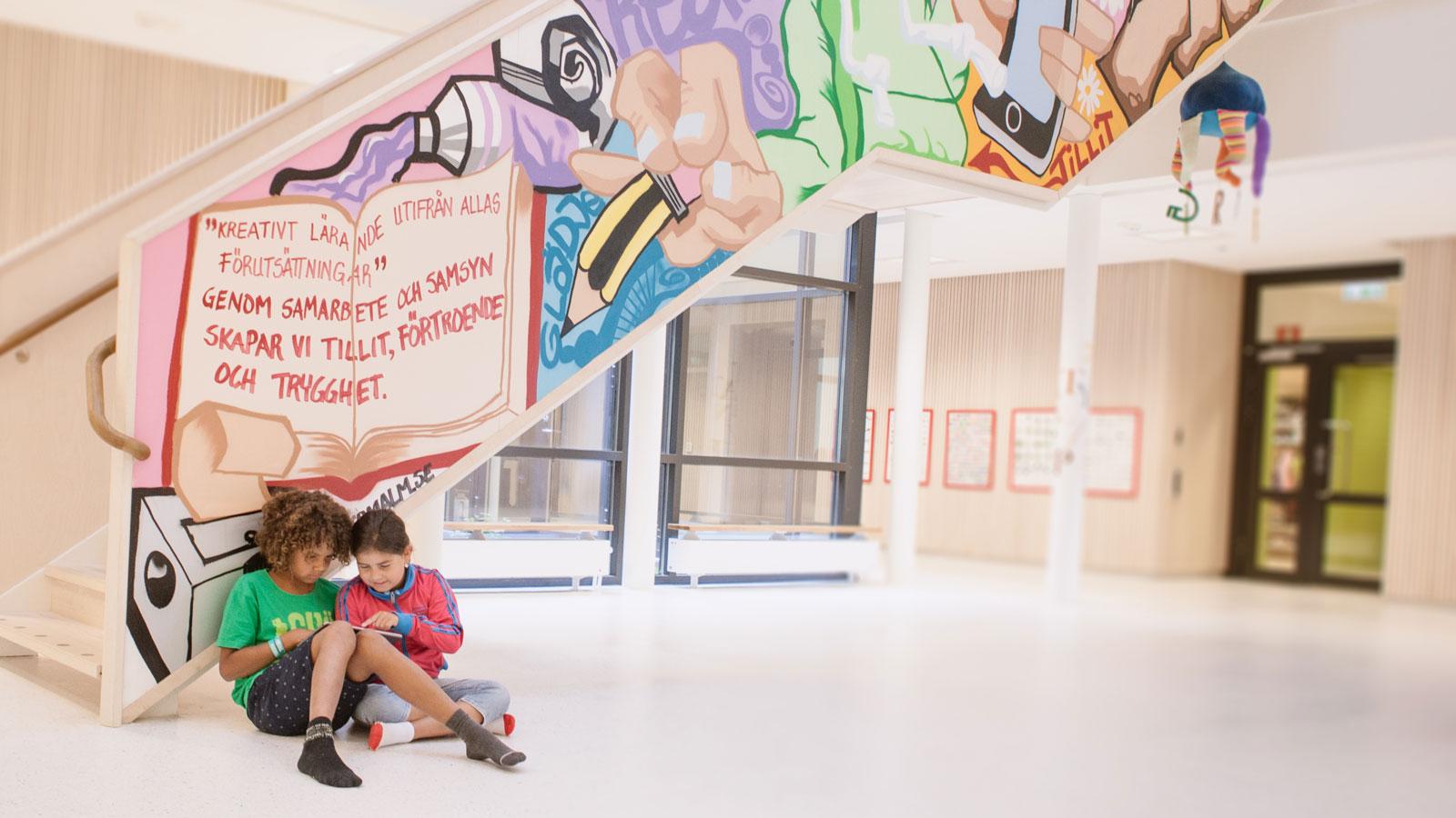 Mellanvångsskolan,grafittitrappa. Foto: Mats Schöld