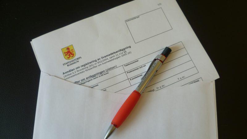 Registrering av livsmedelsanläggning. Foto: Margaret Åkesson