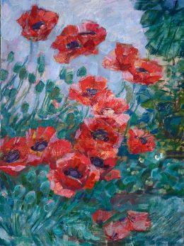"""""""Blomster tid""""80 x 60 cm, oil on linen,2014"""