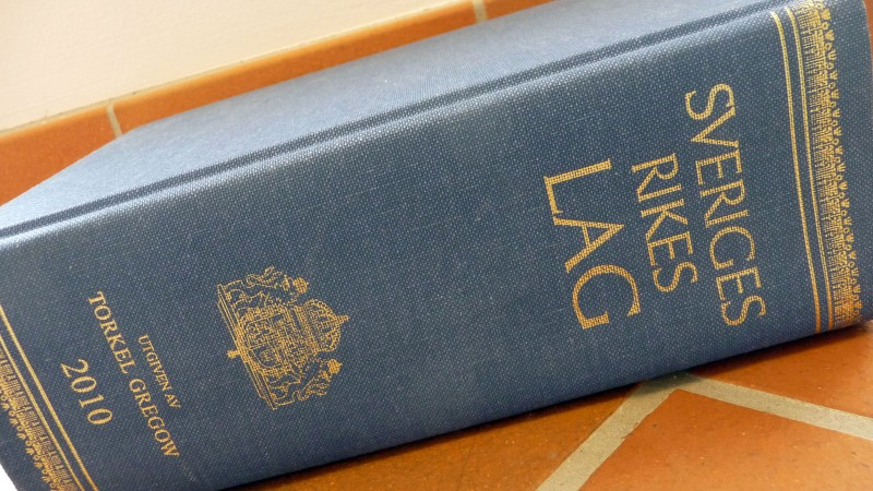 Sveriges Rikes lagbok 2010. Foto: Lisbeth Svensson