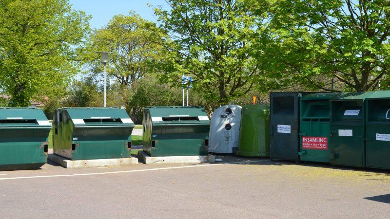 Återvinningsstation i Hjärup. Foto: Johanna Liwenborg
