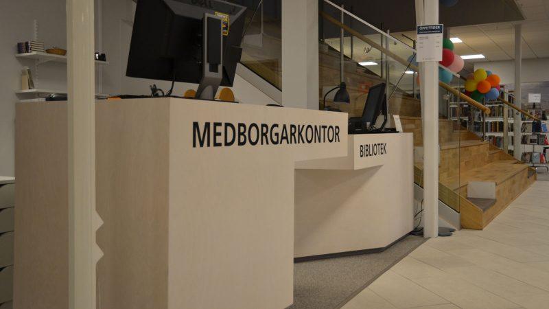 Medborgarkontor och bibliotek i rådhuset. Foto: Staffanstorps kommun