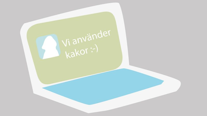 Kakor på webbplatsen. Illustration: Staffanstorps kommun