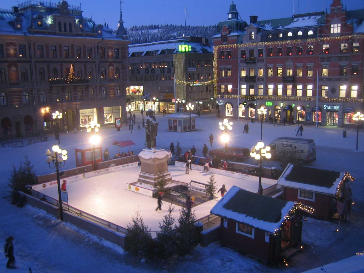 Isbanan i Sundsvall City Foto: Nordic Iceconsulting