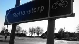 Skylt till Staffanstorp. Foto: Staffanstorps kommun