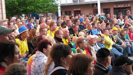 EM fotboll på Torget i Staffanstorp Foto:Ivar Sjögren