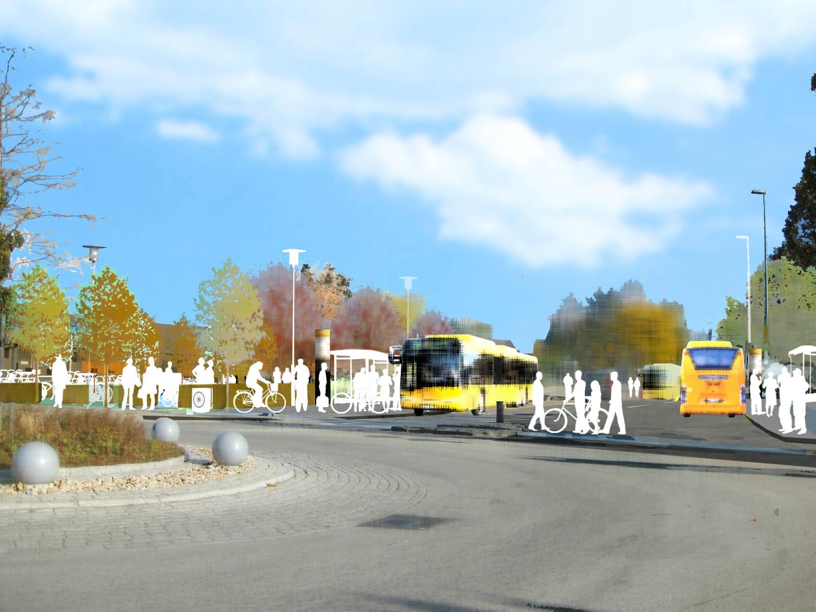 Nya busshållplats vid Storgatan/Malmövägen