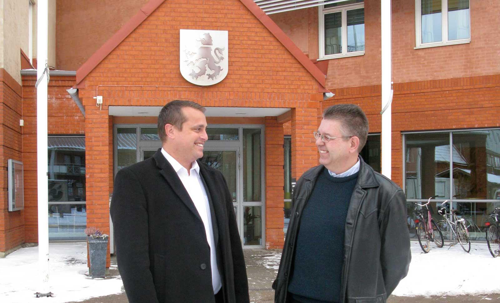 Christian Sonesson och Pierre Sjöström. Foto: Ivar Sjögren för StaffanstorpsAktuellt