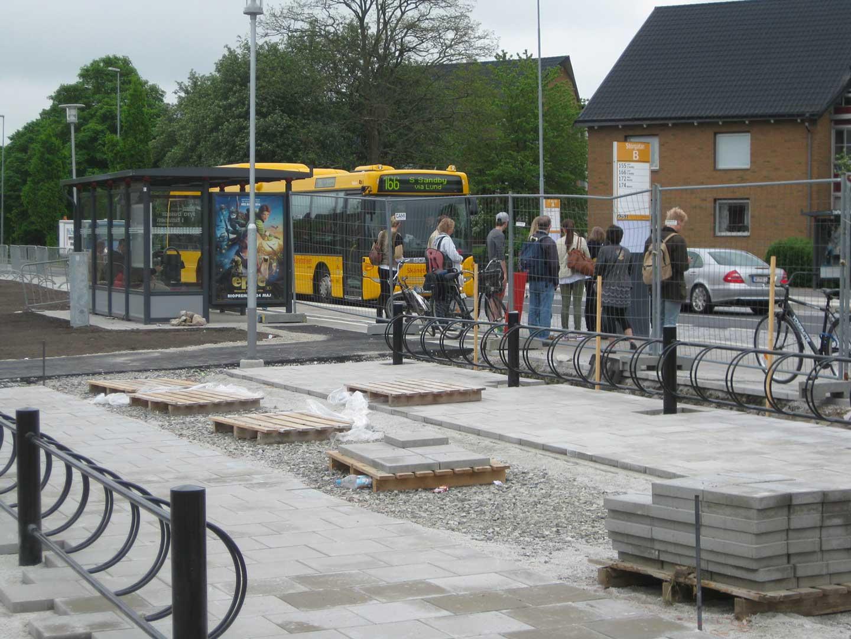 Ny busshållplats Foto: Maria Gunnarsson