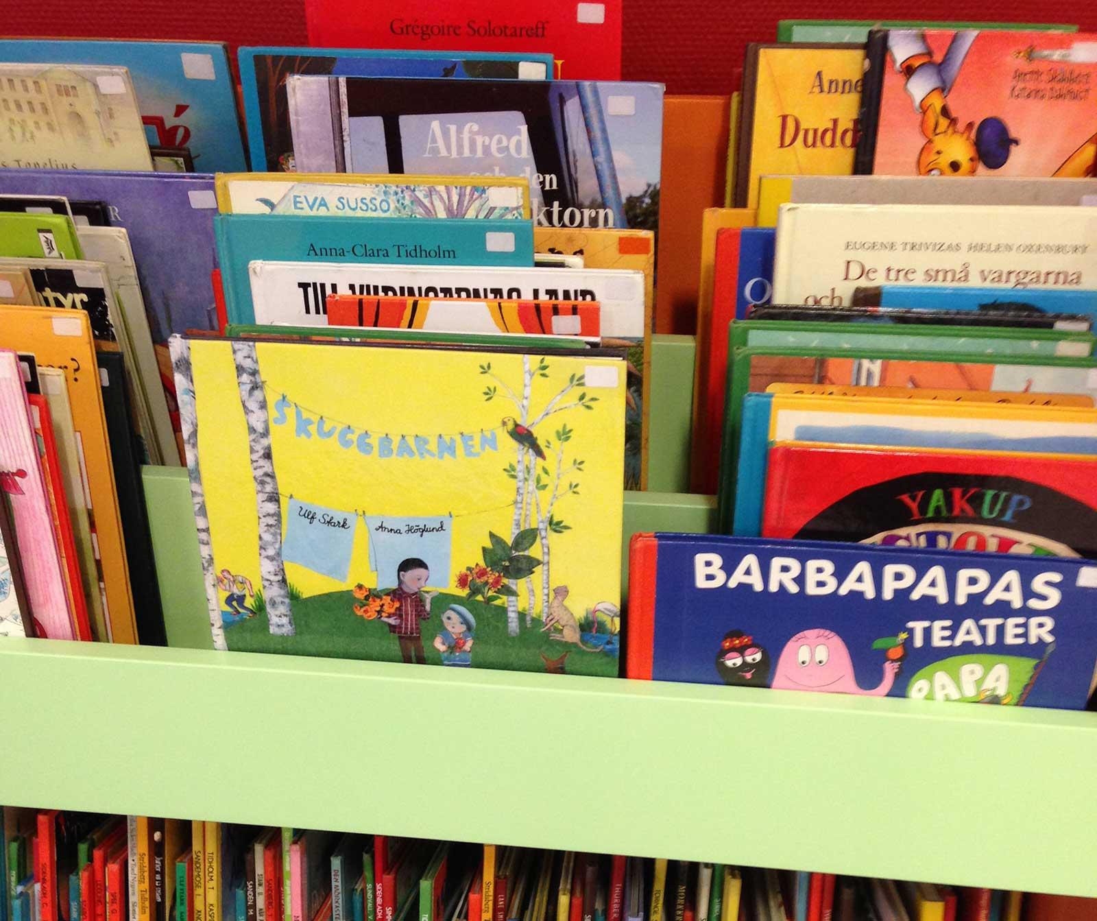 Barnavdelningen på biblioteket i Staffanstorp