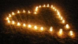 Ljushjärta av glasburkar Foto:Nattvandrarna