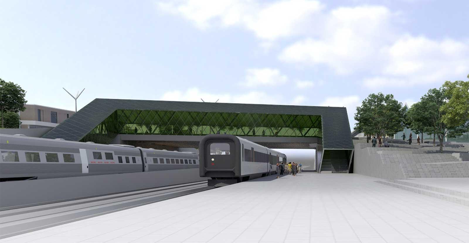 Bro i Hjärup Illustration: Metro Arkitekter & Trafikverket