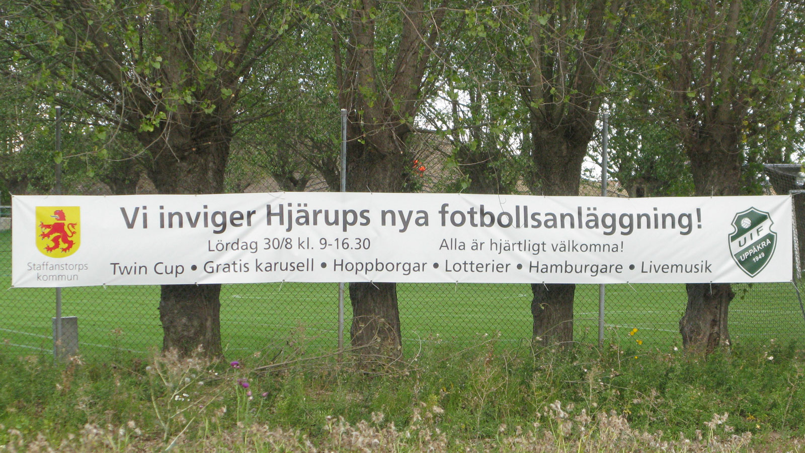 Hjärups nya fotbollsanläggning. Foto Ivar Sjögren