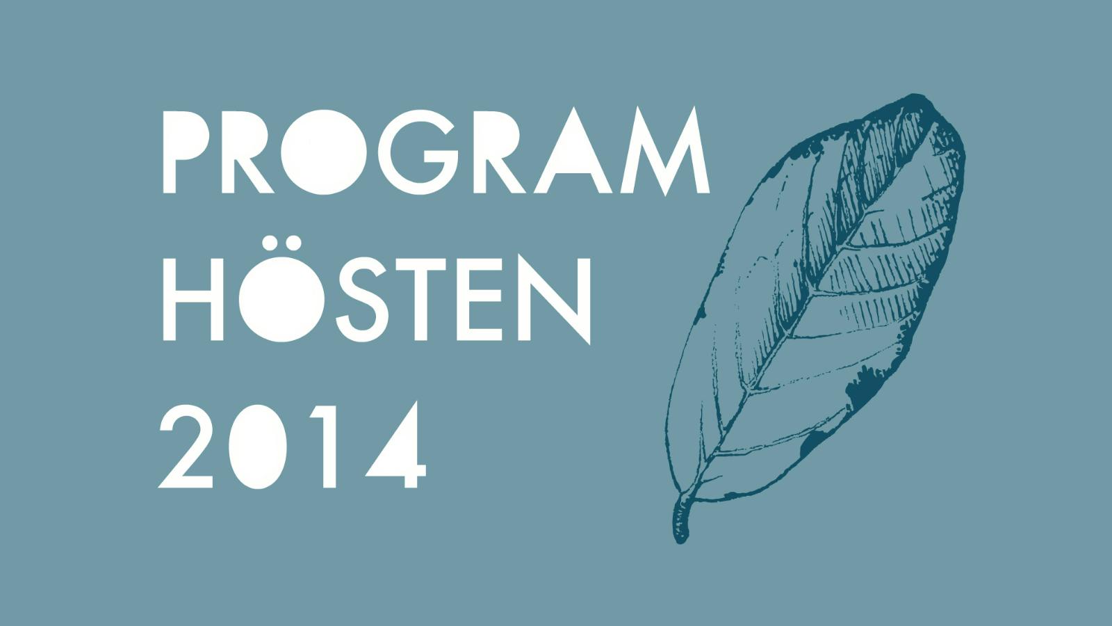 Bibliotekets höstprogram 2014
