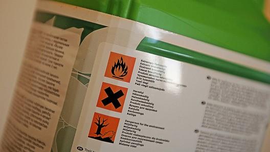 Bild på en brandfarlig vara.