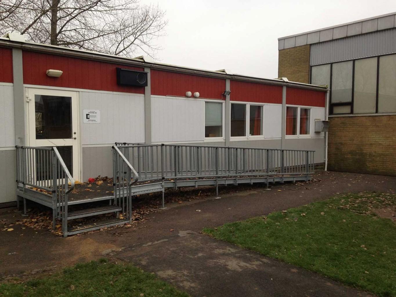 Byggnad för Öppen förskola förmiddagen och Fritidsklubben på eftermiddagen