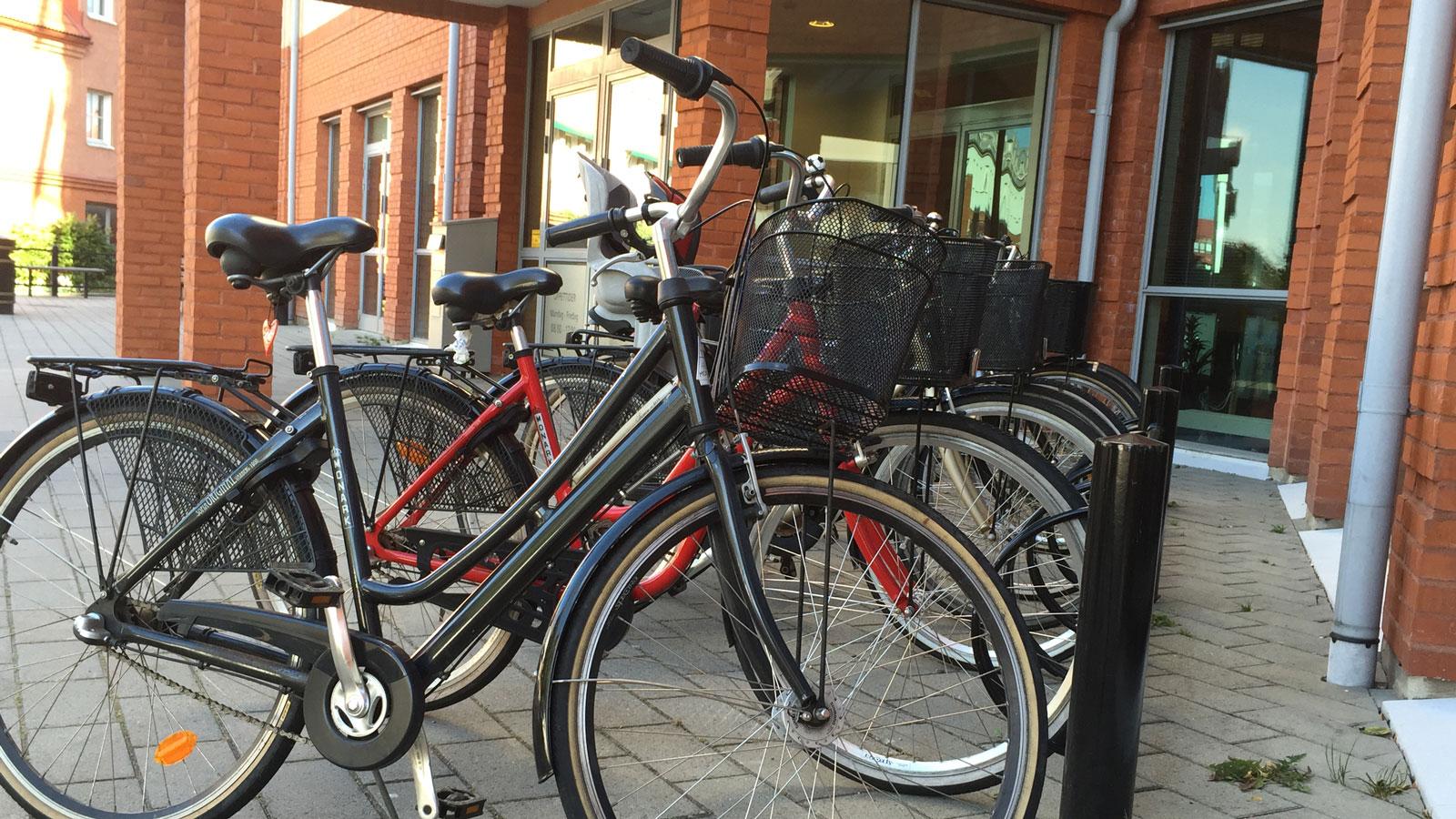Parkerade cyklar. Foto: Lisbeth Svensson