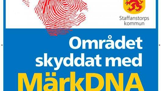 Skyltar om märkDNA kommer att sättas upp runt om i kommun