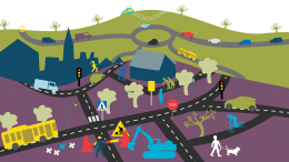 Trafikkaos Illustration: Alva Esping