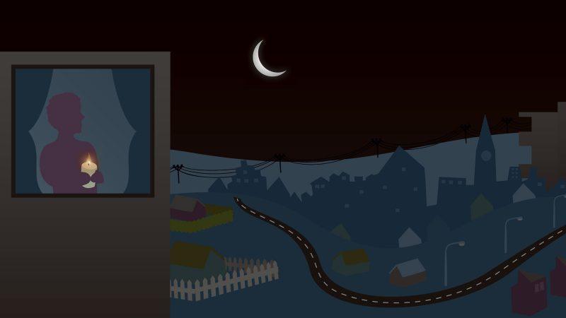 Strömavbrott. Illustration: Alva Esping