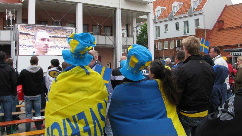 EM-fotboll på Torget. Foto: Ivar Sjögren för StaffanstorpsAktuellt
