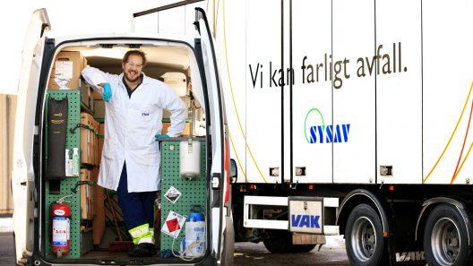 Farligt avfall-bilen. Foto :SYSAV