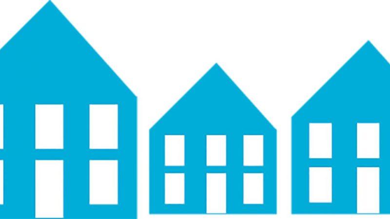 Tre blå hus