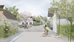 Inspirationsbild, gränd i Västerstad. Illustration: Gehl Architects