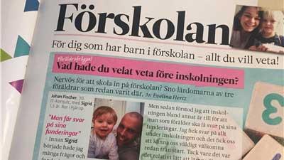 Inskolning på förskola Foto: Eva Mellberg