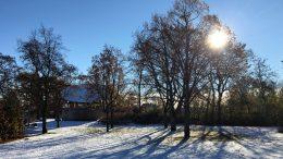Vinter och snö vid Balders hage. Foto: Johanna Liwenborg