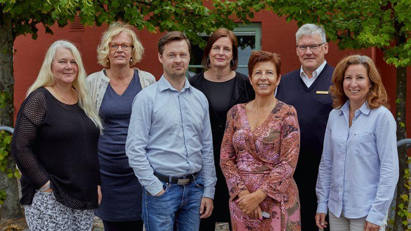 Ledningsgruppen i juni 2017. Foto och licens: Åsa Siller
