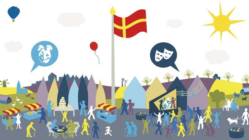 Skånefestivalen. Illustration: Alva Esping