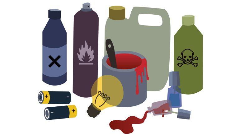 Farligt avfall. Illustration: Alva Esping