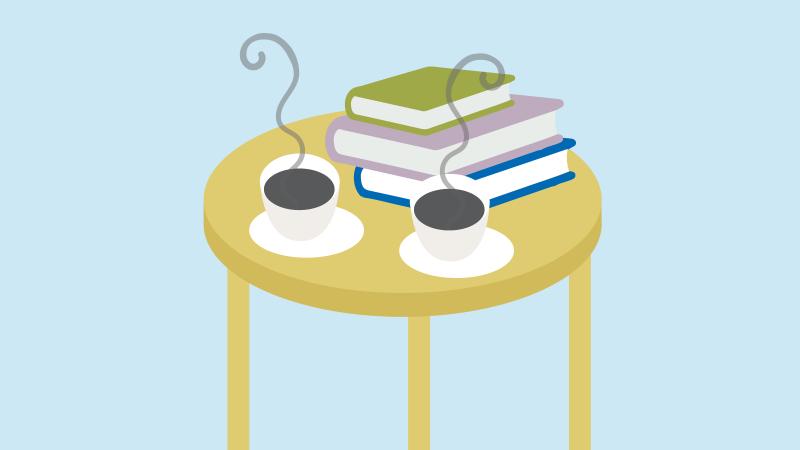 Café/restaurang i rådhuset. Illustration: Alva Esping