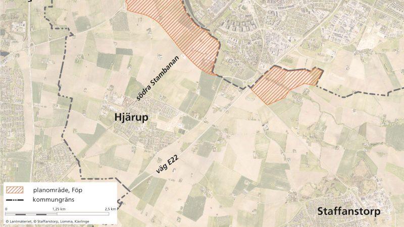 Planområde Flackarp-Höjebromölla. Illustration: Staffanstorps kommun