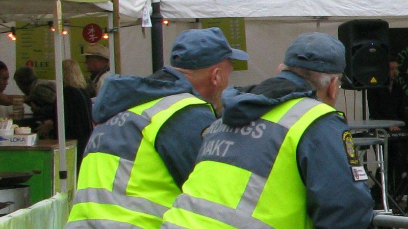 Ordningsvakter på festival i Hjärup. Foto: Ivar Sjögren för StaffanstorpsAktuellt