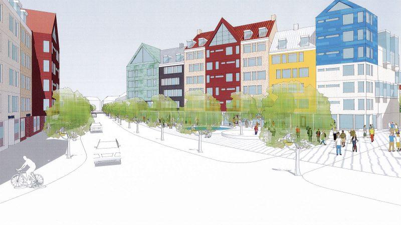 Södra Stanstad. Illustration: Veidekke/Plan-och byggnadskonst i Lund AB