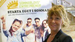 Monica Smidelik är projektledare för sommarlovsentreprenörerna. Foto: Ivar Sjögren för StaffanstorpsAktuellt