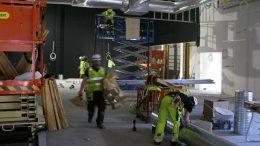 Byggnation av multifunktionshuset pågår. Foto: Ivar Sjögren för StaffanstorpsAktuellt