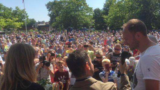 Det kom mycket folk till Balders Hage för att fira Skåneländska flaggans dag och hylla årets skåning. Foto: Ivar Sjögren