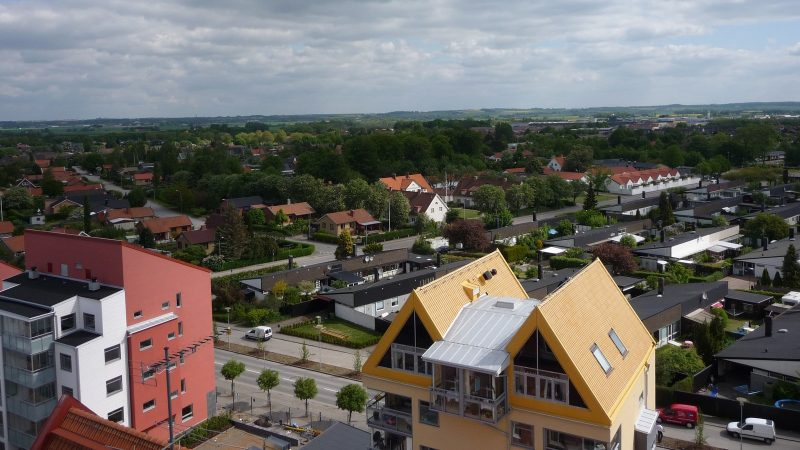 Staffanstorp uppifrån. Foto: Staffanstorps kommun