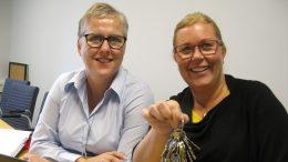 Jennie Andersson och Paulina Hallgren. Foto: Ivar Sjögren för StaffanstorpsAktuellt