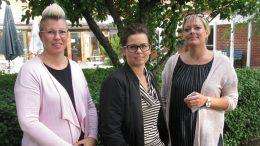 Jessica Lövkvist, Adené Edsheim och Jessica Sjöstedt i nattpatrullen.. Foto: Ivar Sjögren för StaffanstorpsAktuellt