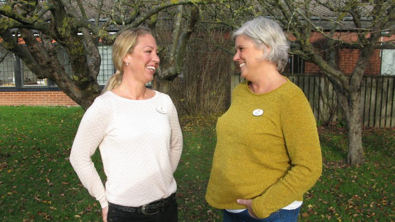 Malin Sundqvist och Anette Lind. Foto: Ivar Sjögren för StaffanstorpsAktuellt