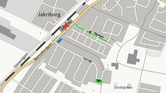 Hjärup pendlarparkering 2019. Illustration: Trafikverket_