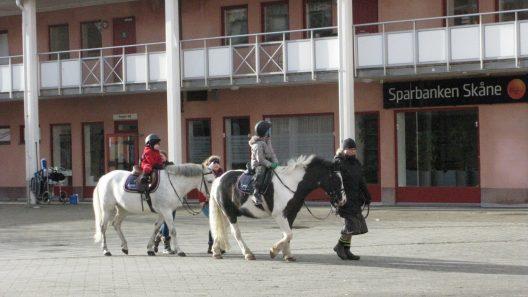 Gratis ponnyridning på Torget onsdag 19 februari kl 10-12
