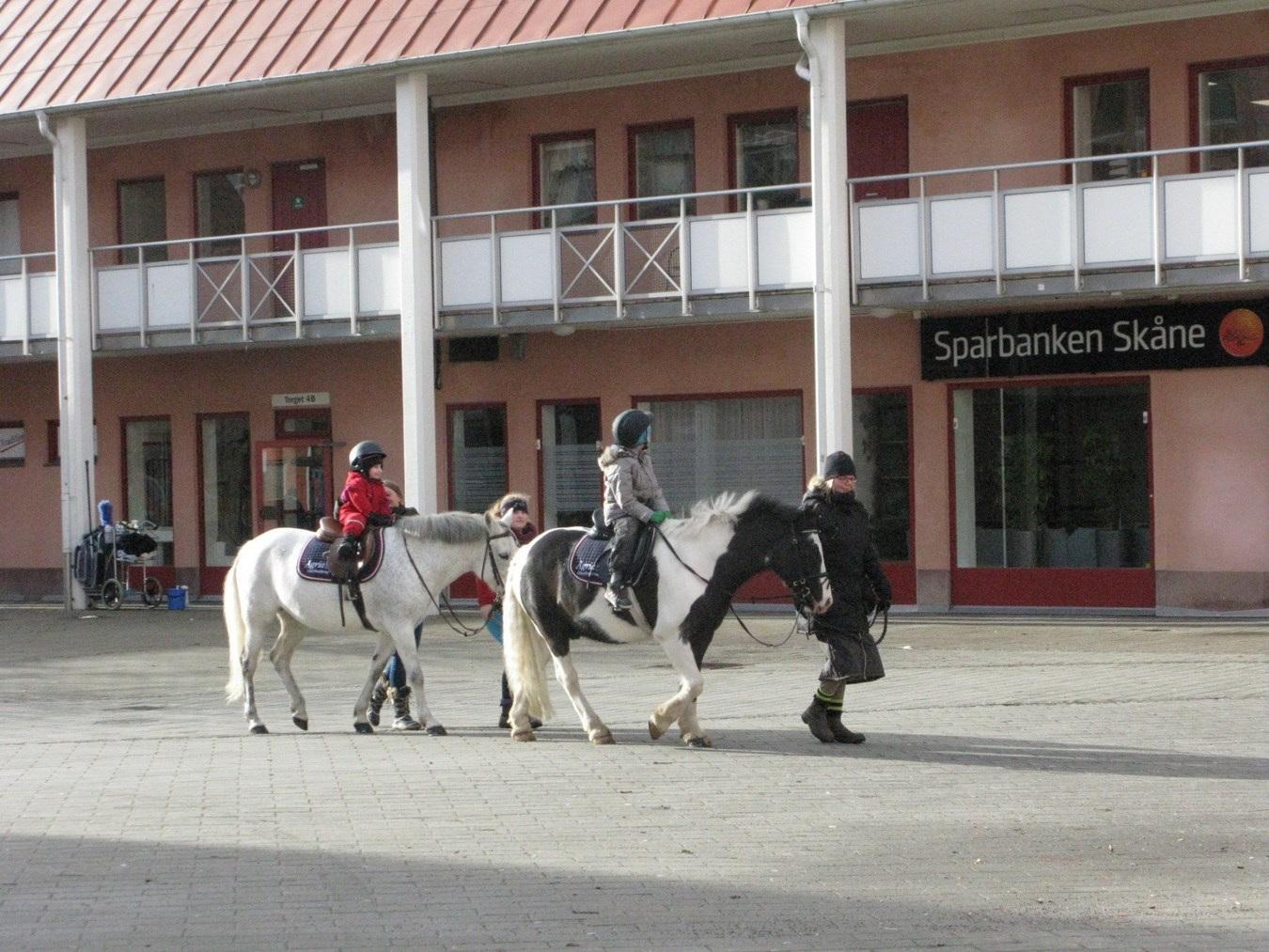 Gratis ponnyridning på Torget onsdag 20 februari kl 10-12