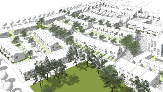 Ett nytt levande stadscentrum är under planering i Hjärup. Illustration: Arkitektlaget