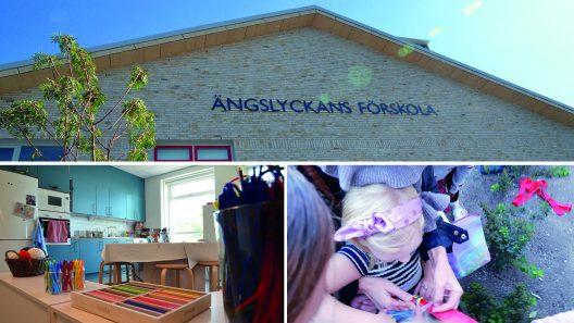 Ängslyckans förskola, kollage. Foto: Andreas Holm